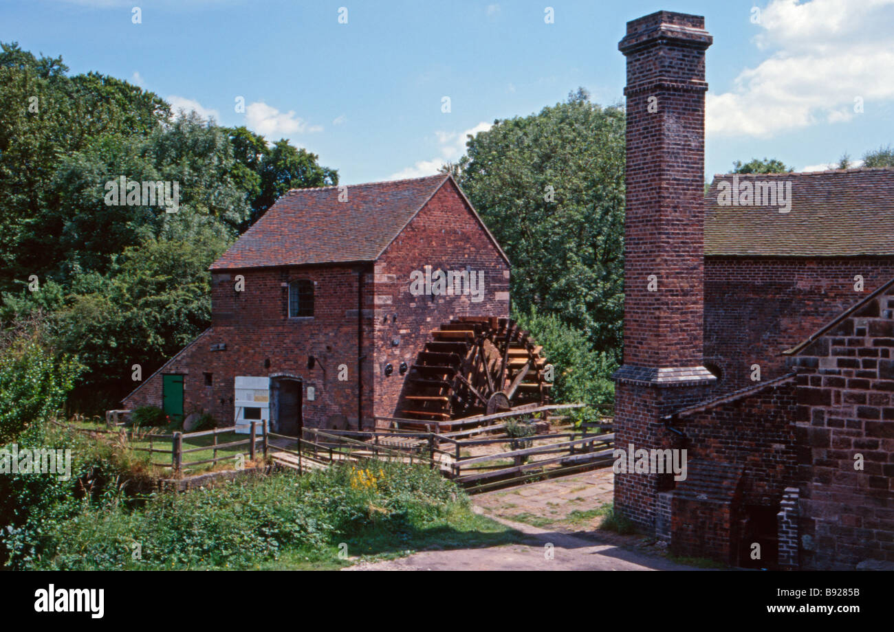 North Mill, Cheddleton Flint Mill, Cheddleton, Staffordshire, England, UK - Stock Image