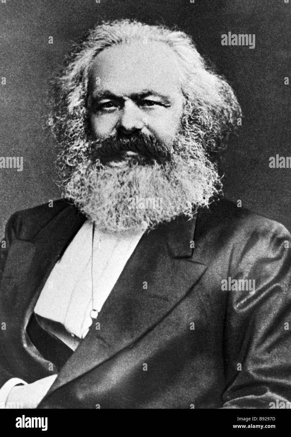 Karl Marx founder of scientific communism 1818 1883 - Stock Image