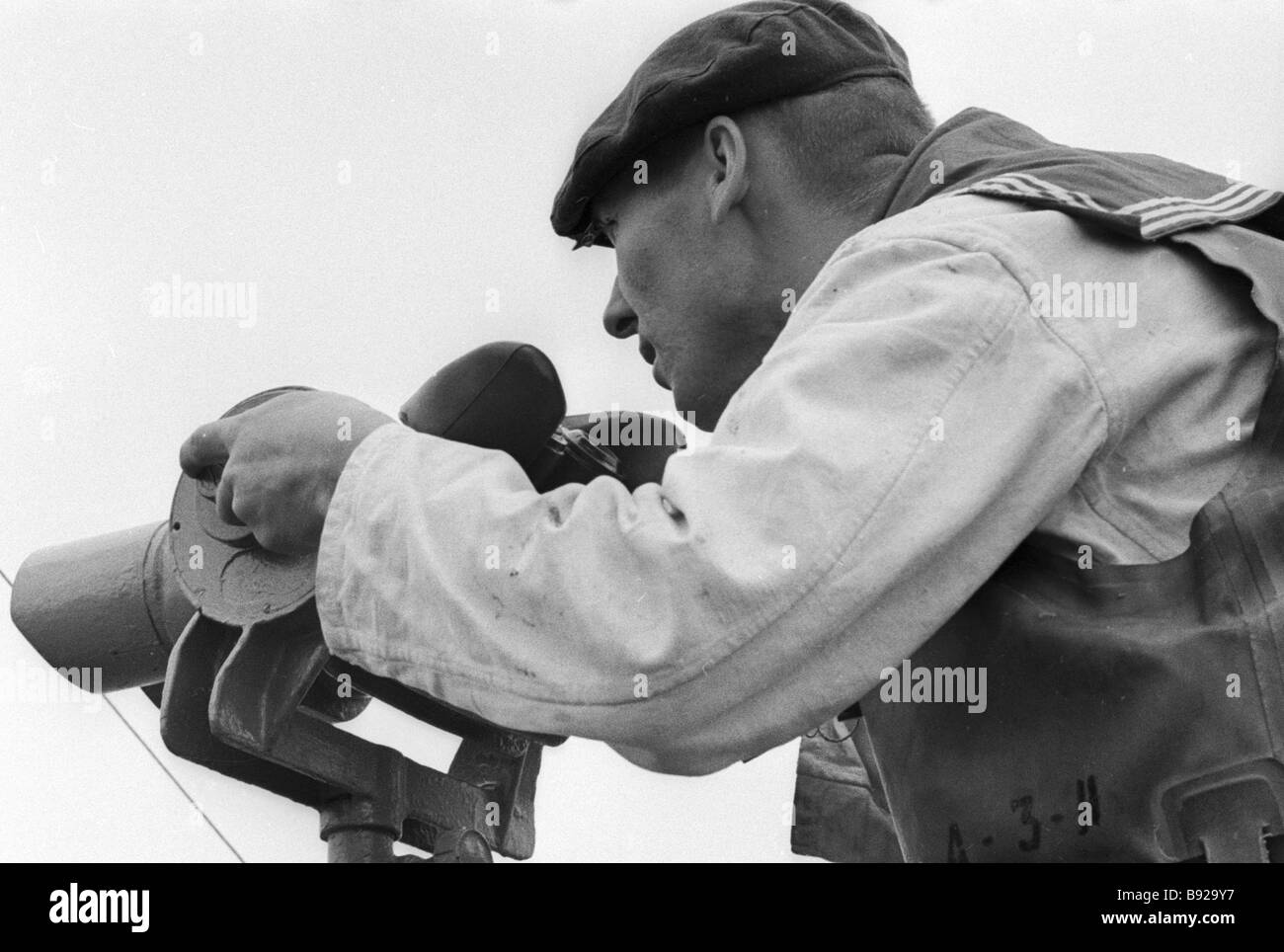 A signalman observer on duty - Stock Image