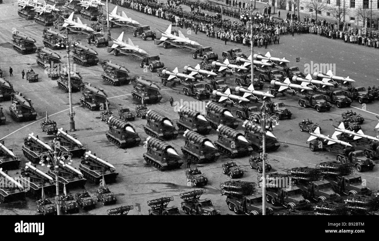 Military parade on Moscow s Red Square May 1 1964 - Stock Image