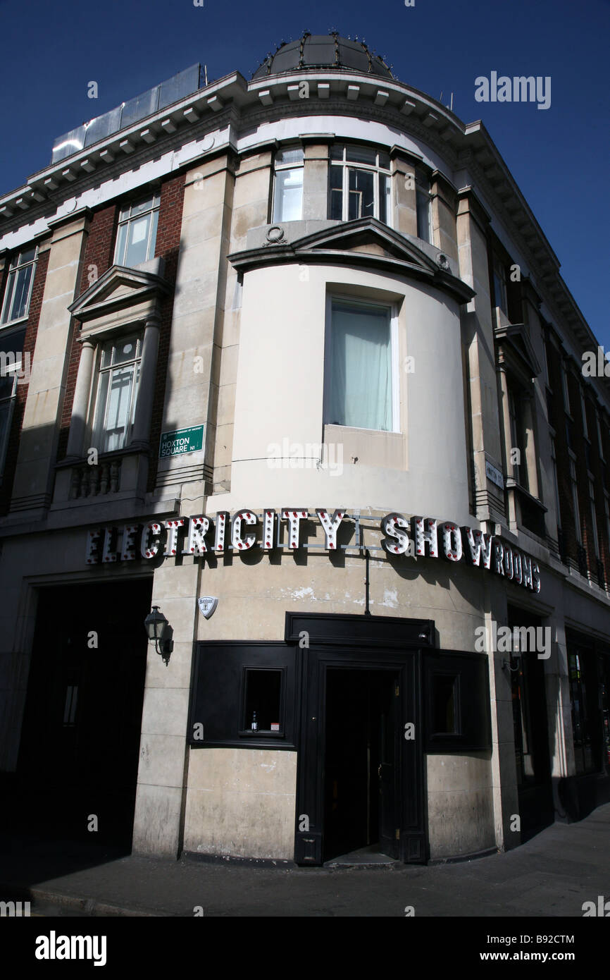 Electricity Showrooms bar and dance club, Hoxton, London - Stock Image