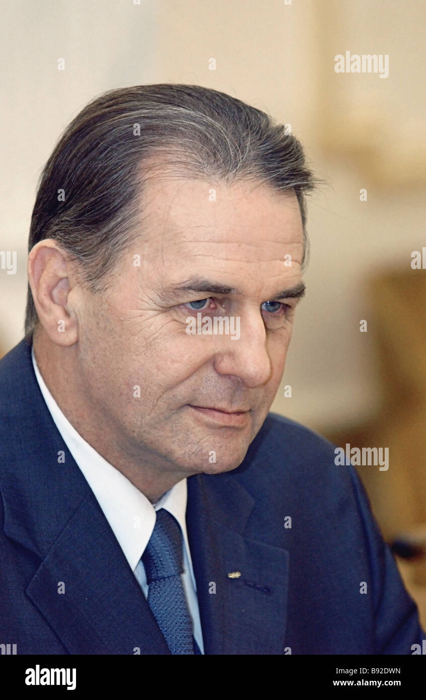International Olympic Committee President Jacques Rogge - Stock Image