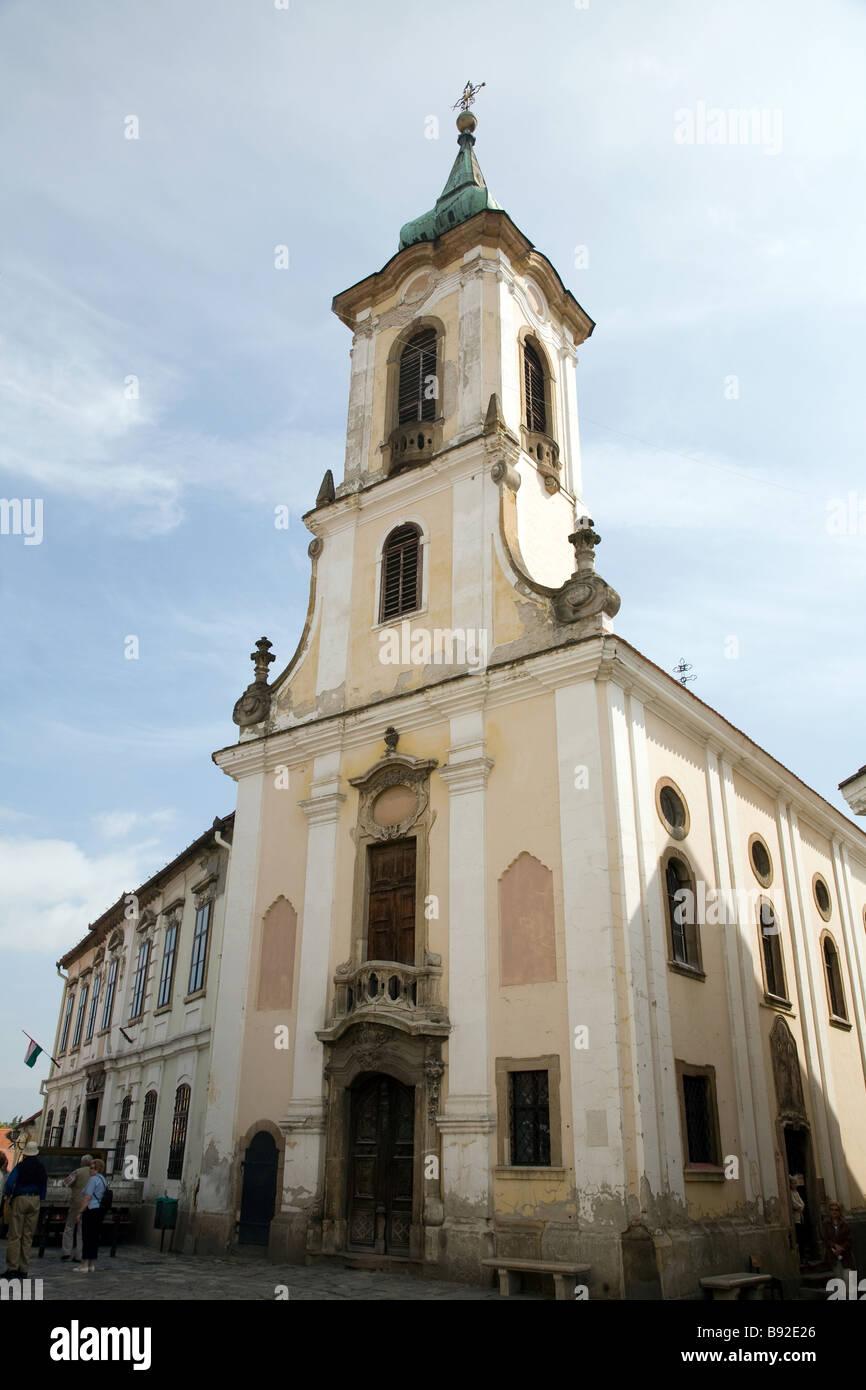 Serbian Orthodox Church Blagovestenska Templom in Szentendre near Budapest - Stock Image