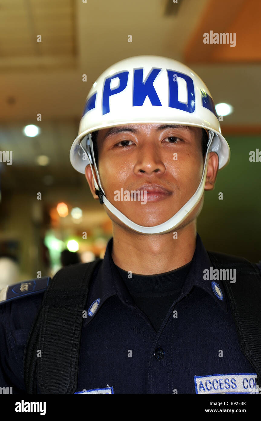 security guard mangga dua plaza jakarta indonesia Stock Photo