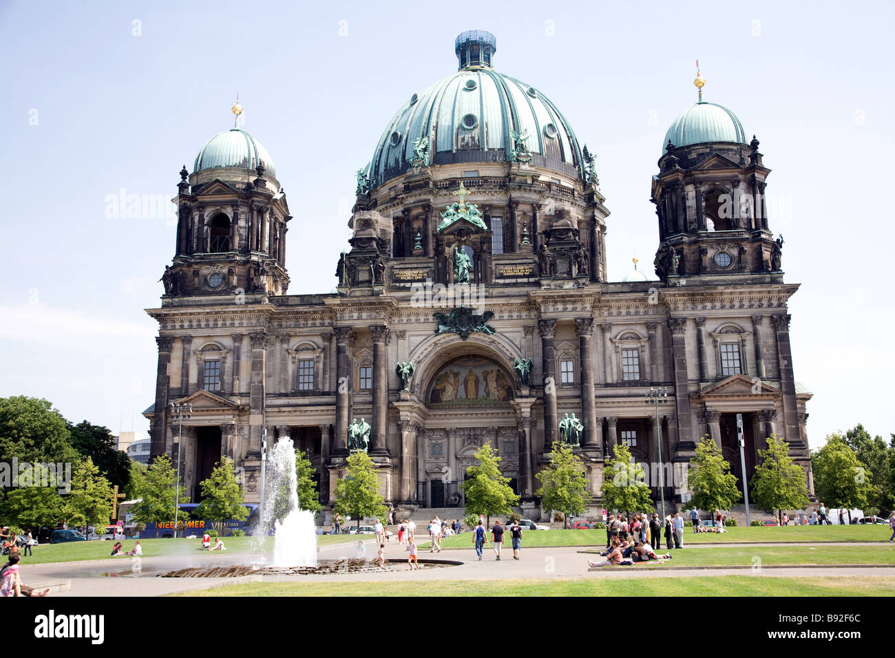 The Berlin Cathedral Berliner Dom is a popular destination with visitors Berlin Germany - Stock Image