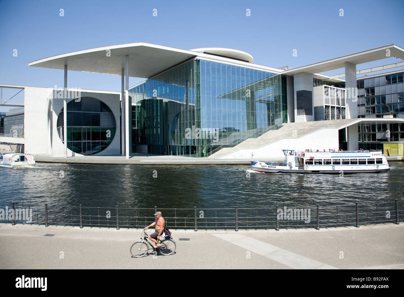 The Marie Elisabeh Luders Haus in the government precinct near the Reichstag Berlin Germany - Stock Image
