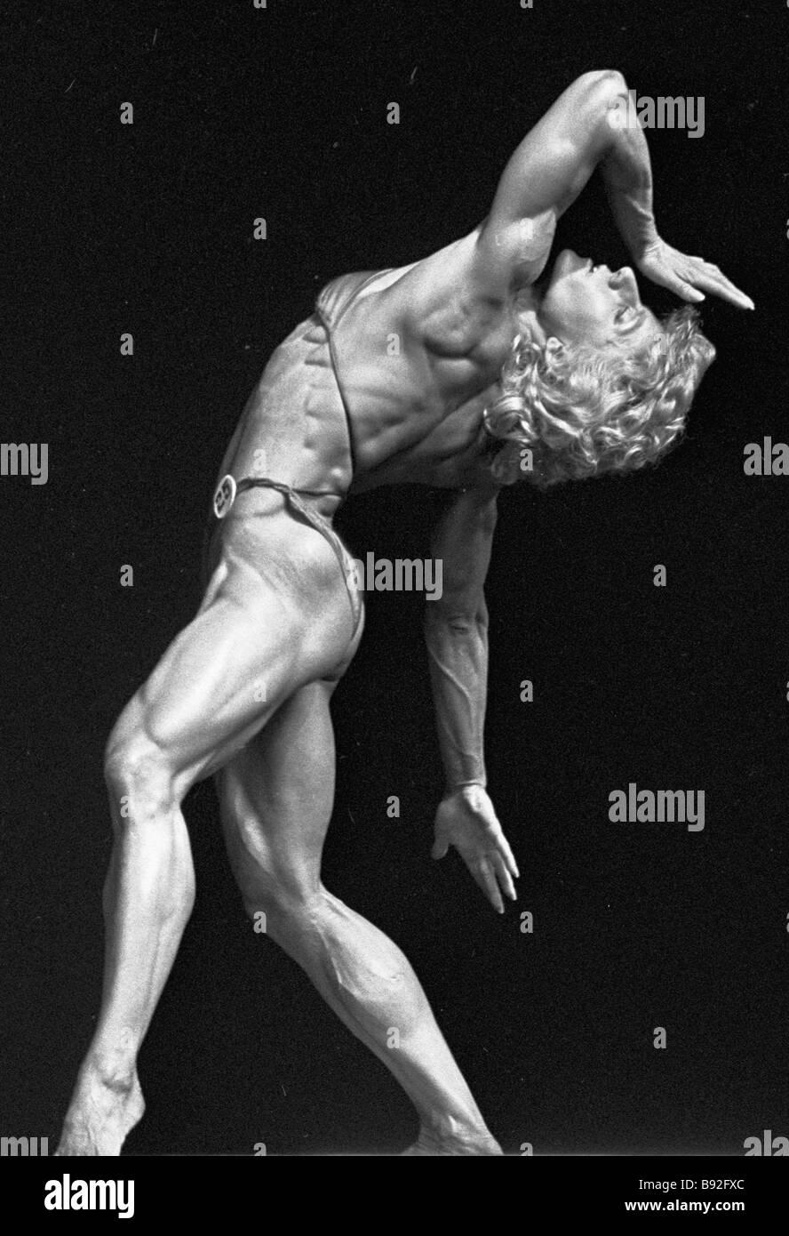 European champion under 57 kg Vetina Kliber at the European bodybuilding championship - Stock Image