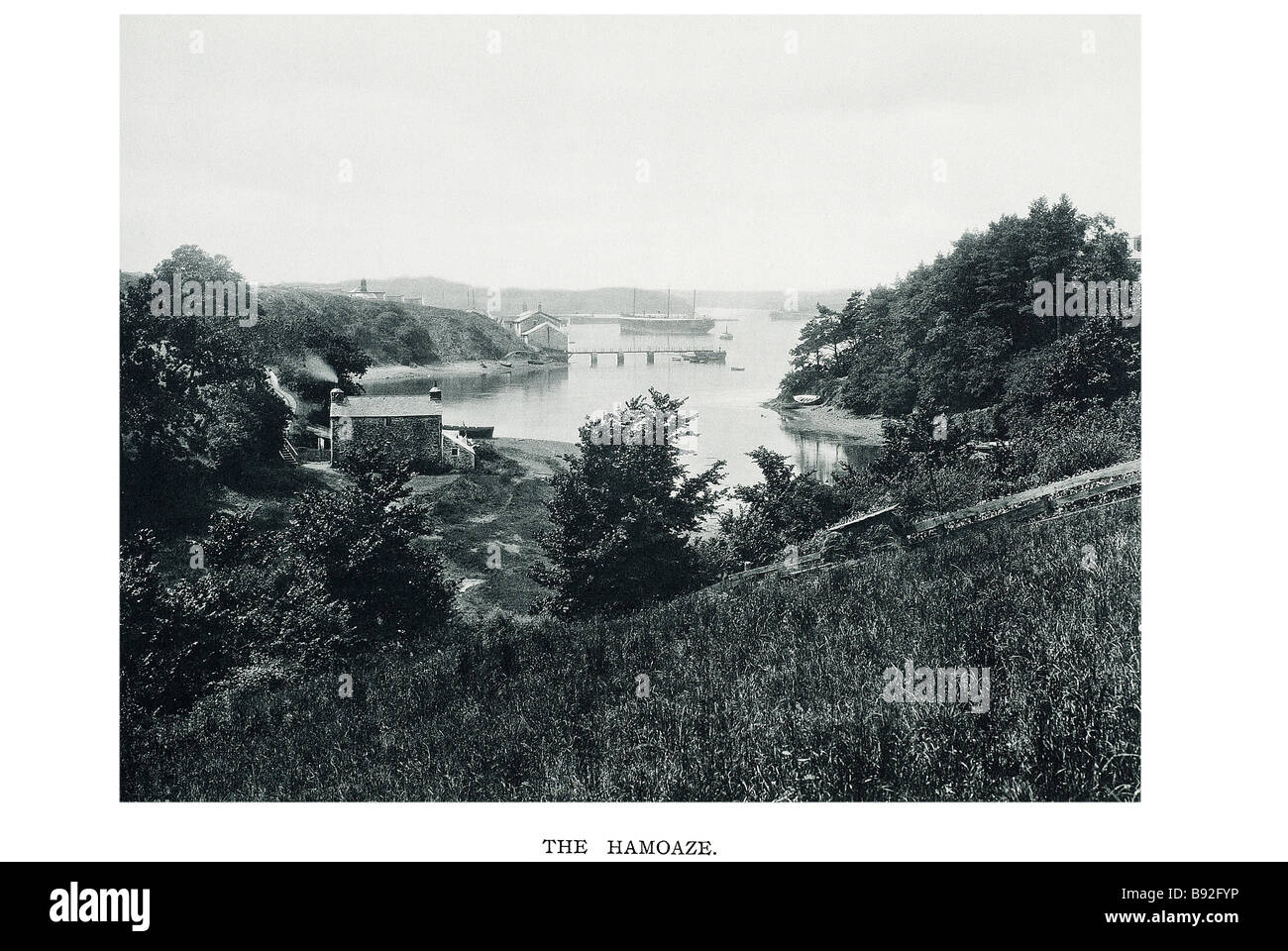The Hamoaze is an estuarine stretch of water at the point where the tidal River Tamar, the Rive - Stock Image