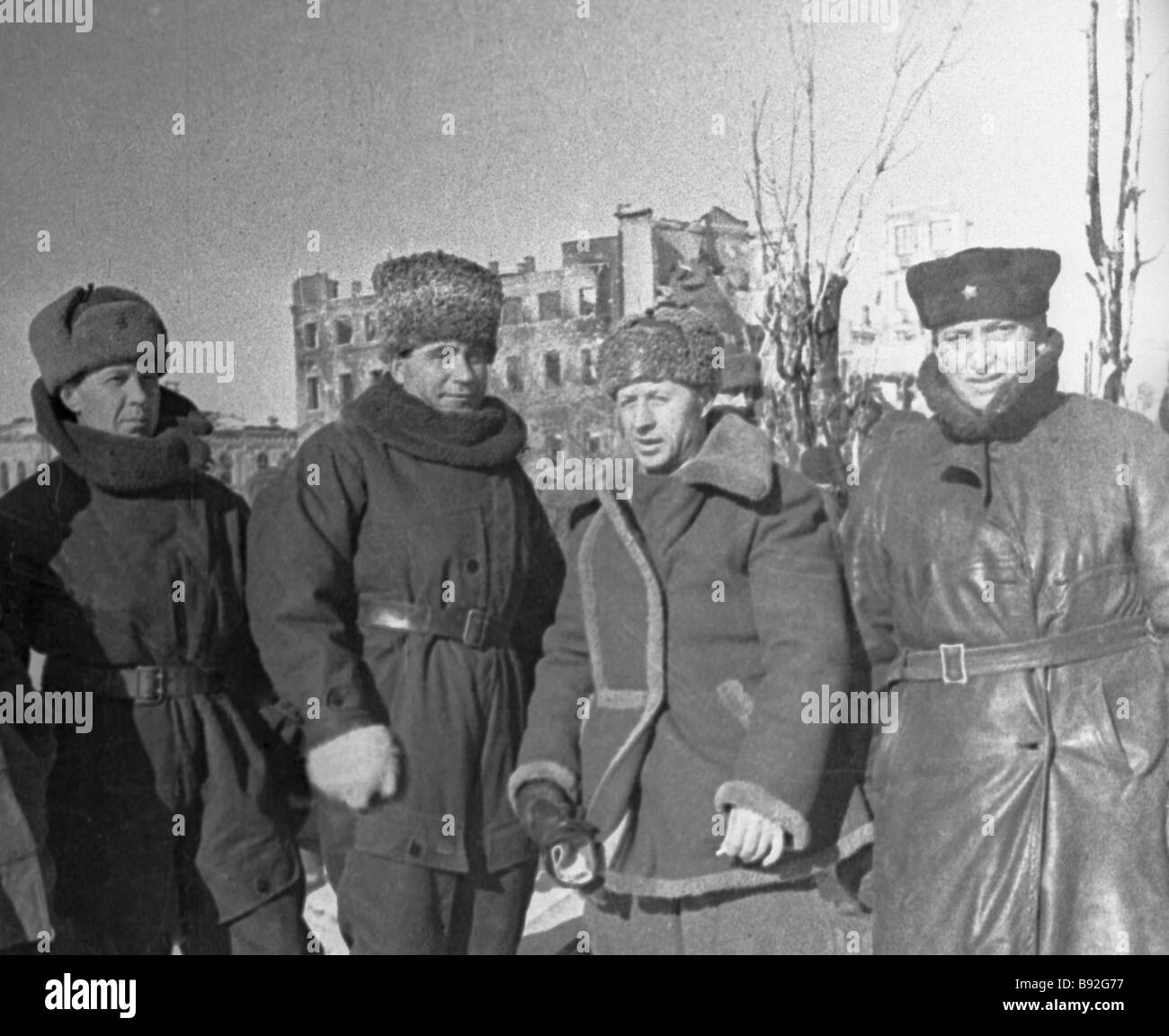 General Store Stock Photos General Store Stock Images: General Rodimtsev Second To The Right And General Savelyev