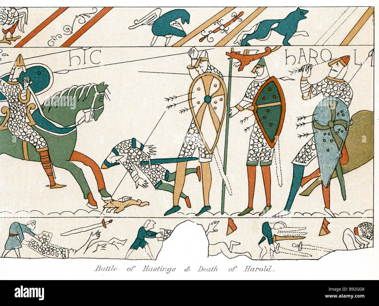 Battle Of Hasting S And Death Of Harold The Bayeux Tapestry French