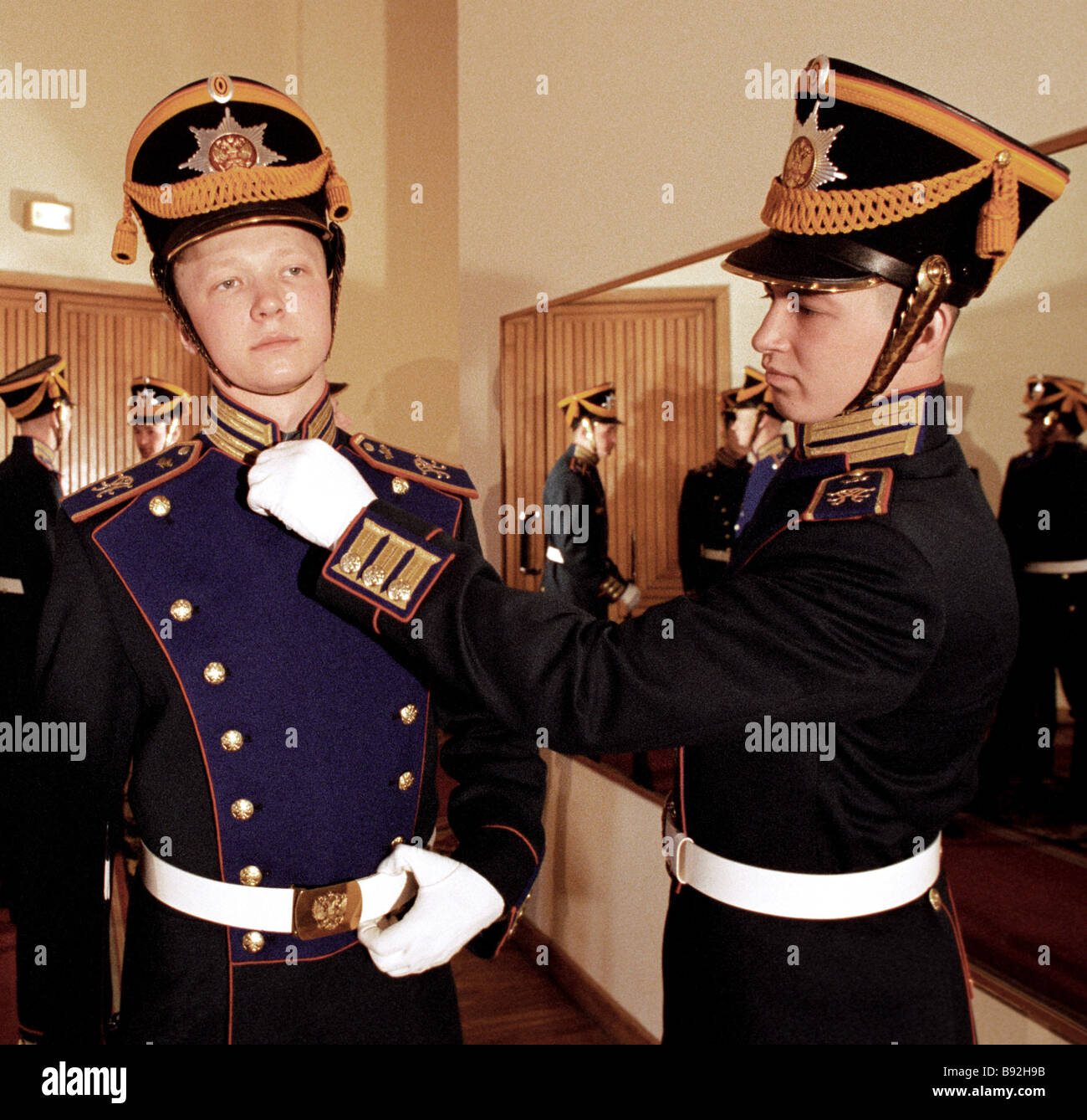Soldiers of Presidential Regiment before official ceremony - Stock Image