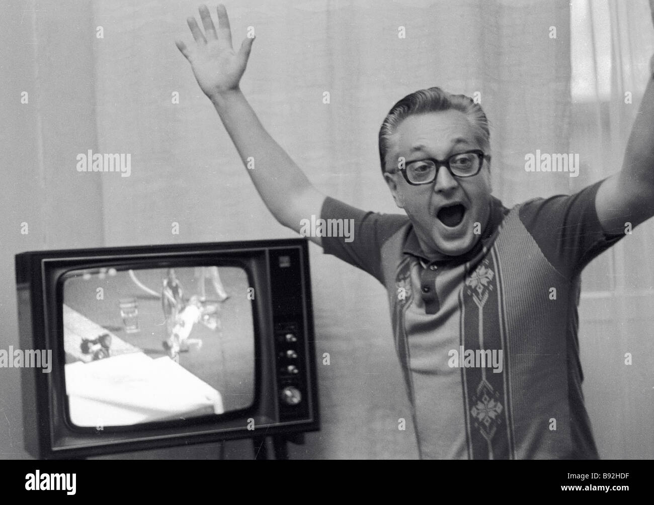 Igor Zhulev researcher at the Institute of Oriental Studies of the USSR Academy of Sciences is a sports maniac - Stock Image