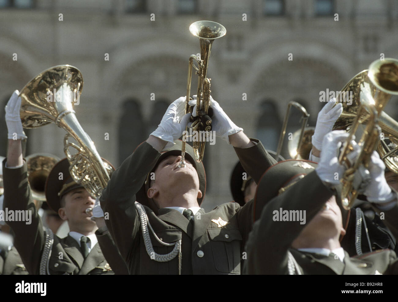 Platz concert in Red Square during the VE Day military parade marking the 58th anniversary of WWII - Stock Image