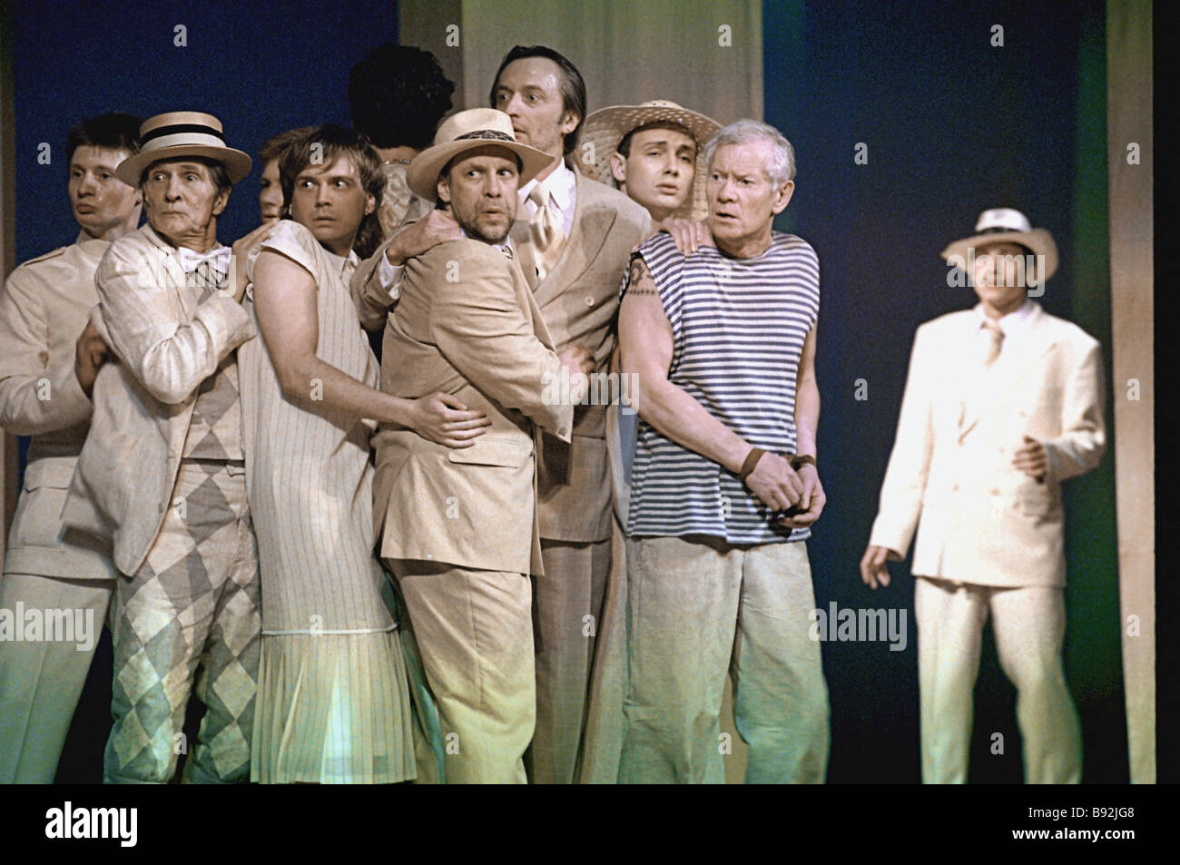 The Cheek by Jowl Russian company s sensational all male production of Shakespeare s The Twelfth Night had its world - Stock Image