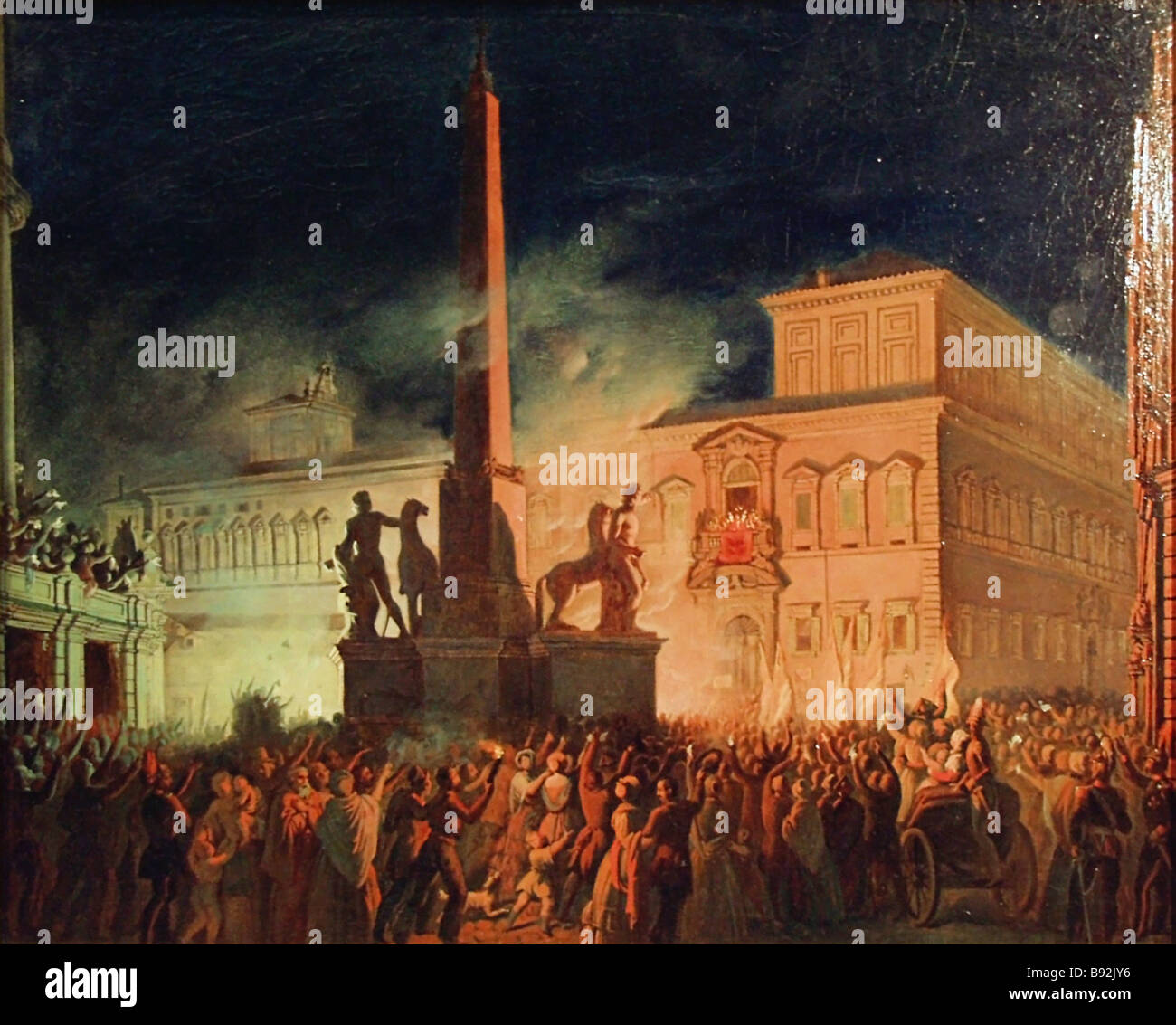 Karl Bryullov 1799 1852 A Political Demonstration in Rome in 1846 Sketch 1850 The exhibition Cultural Heritage of - Stock Image