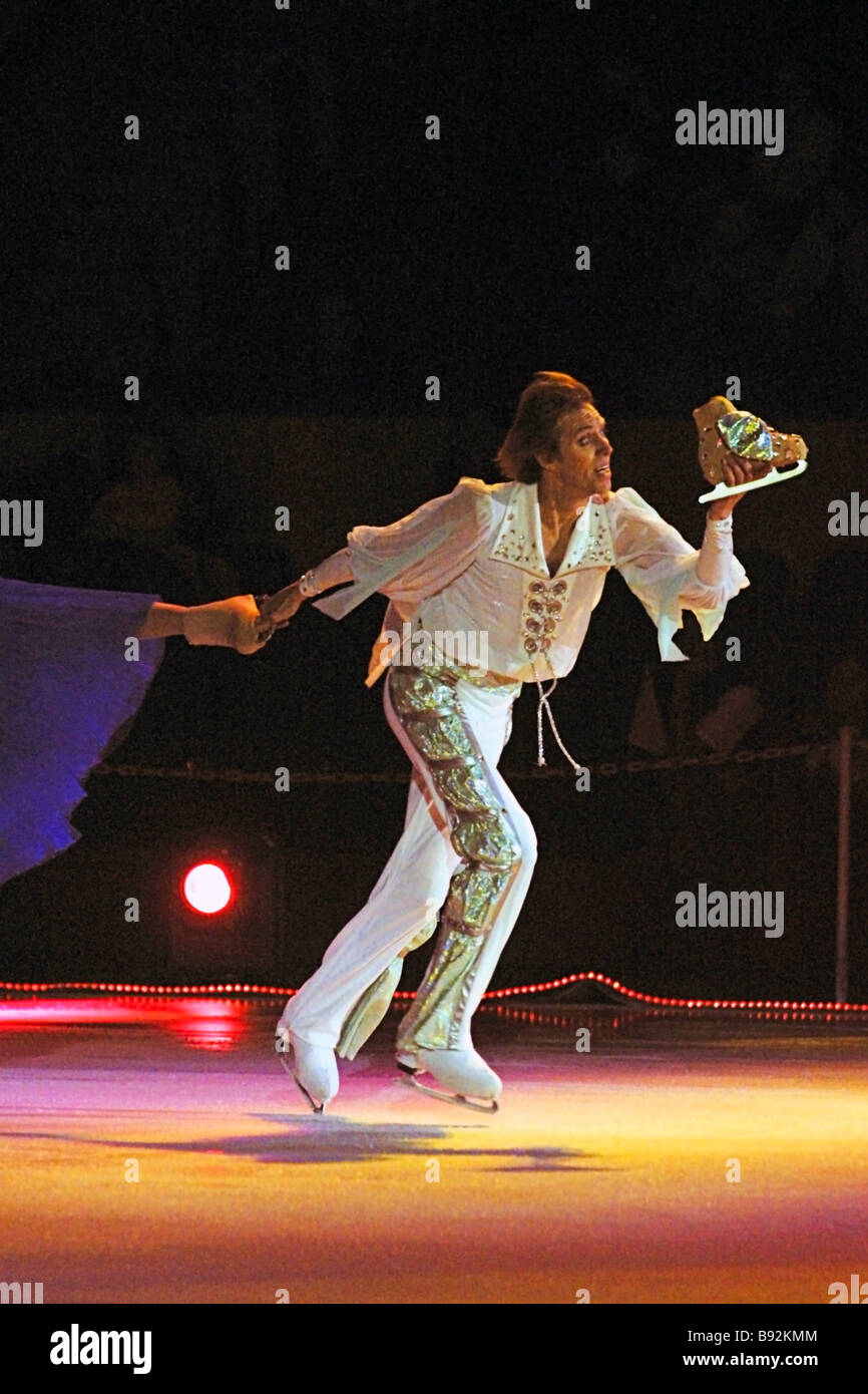 Olympic champion Andrei Bukin the permanent partner in the duet with Natalya Bestemyanova performing as Prince in - Stock Image