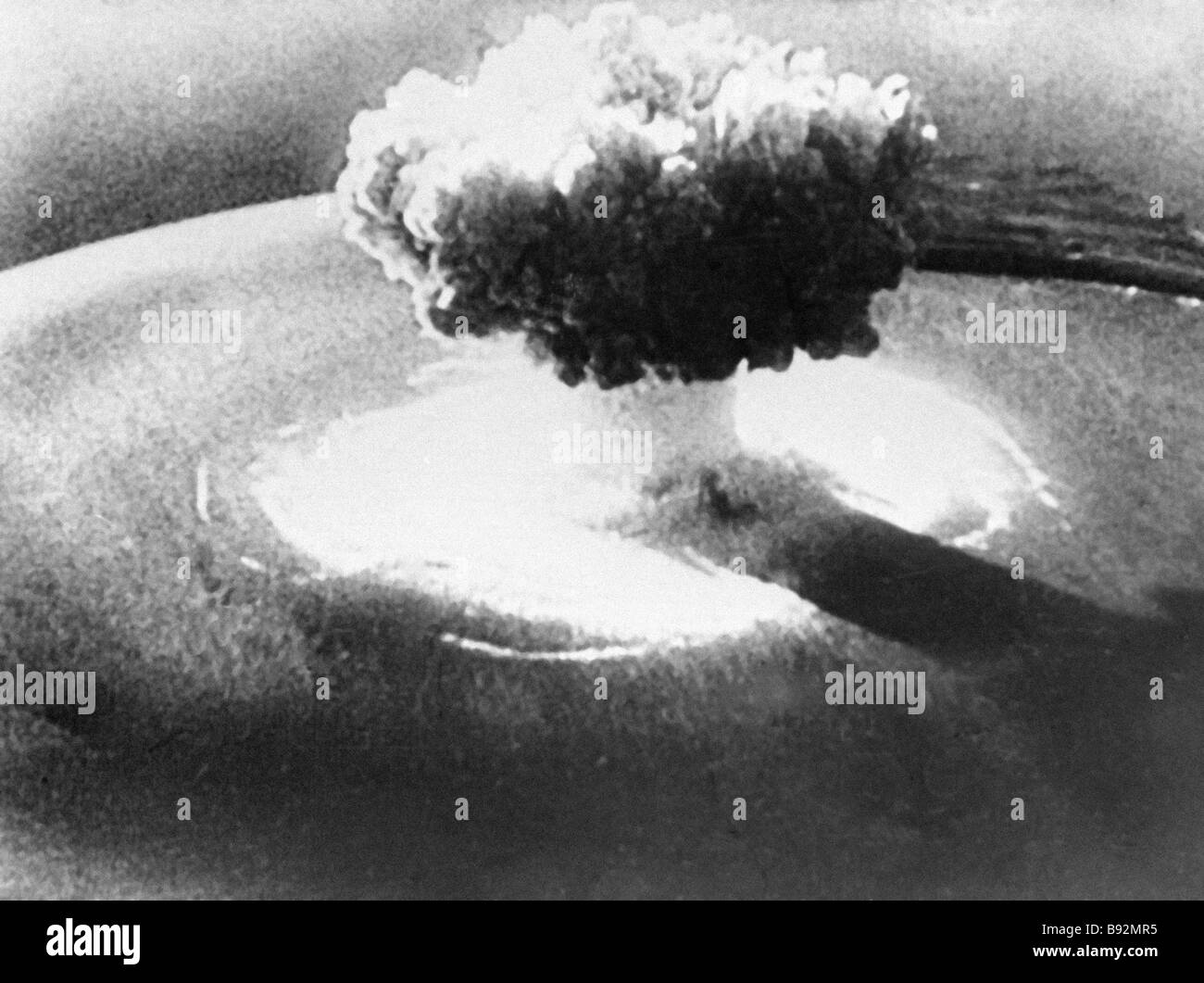 A nuclear explosion - Stock Image