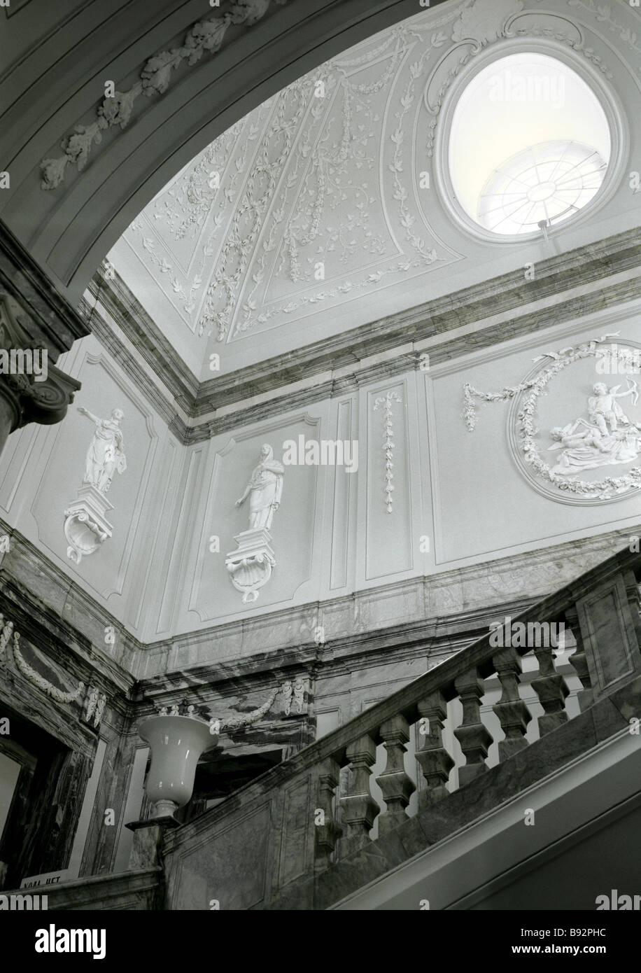 Gala staircase in the Marble Palace 1768 1785 Leningrad now St Petersburg Architect A Rinaldi 1710 1794 Sculptors - Stock Image