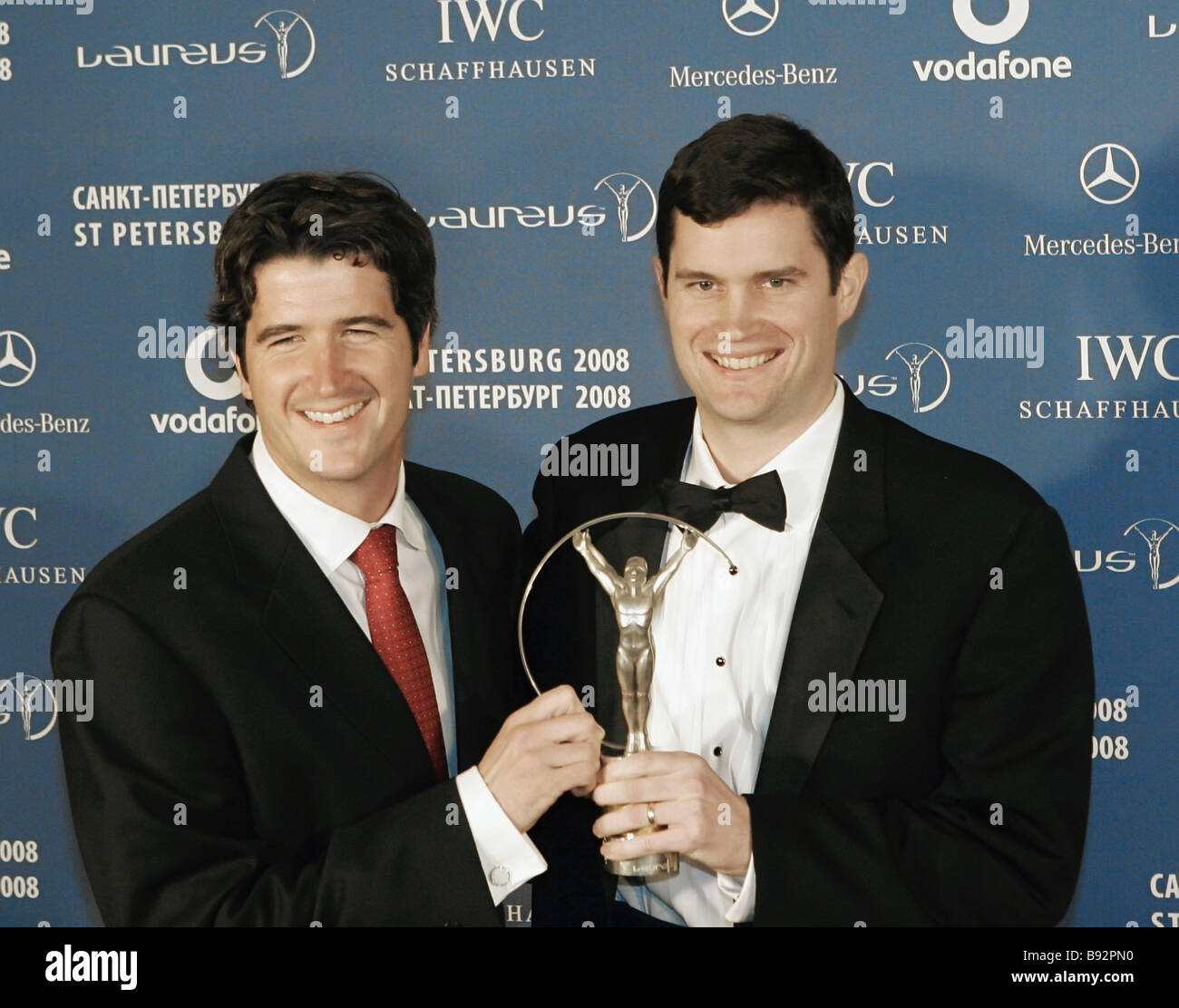The Tuohey brothers Brendan and Sean of the United States who won the Laureus Sport for Good award at the 9th annual - Stock Image