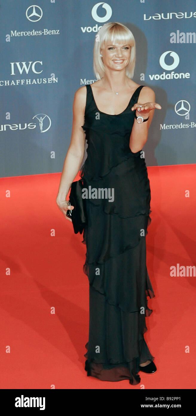 Olympic champion Svetlana Khorkina before the Ninth Laureus World Sports Awards 2008 - Stock Image