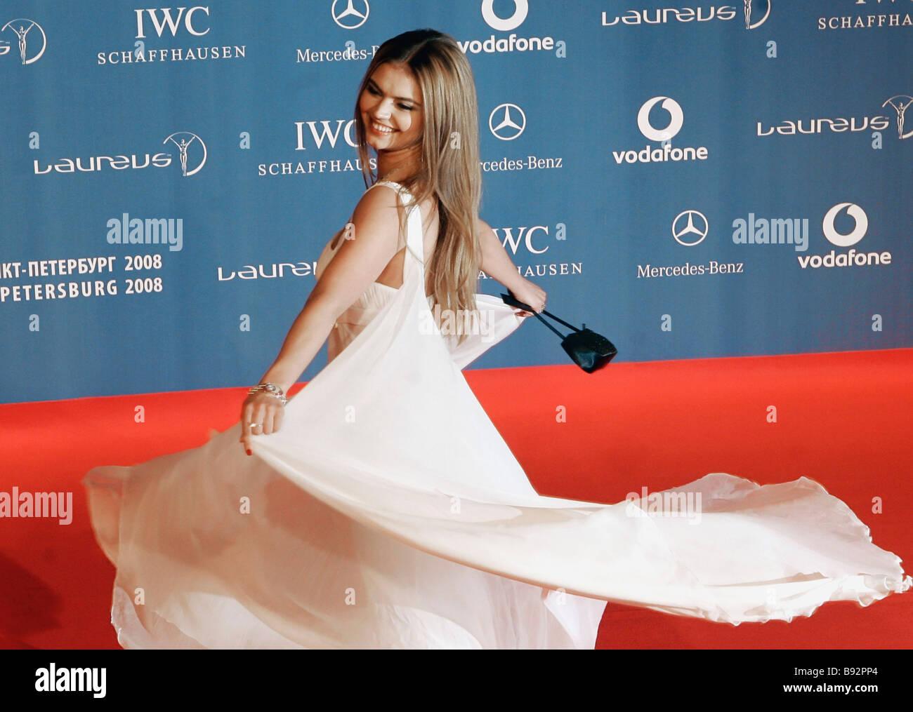 Gymnast Alina Kabayeva before the Ninth Laureus World Sports Awards 2008 - Stock Image