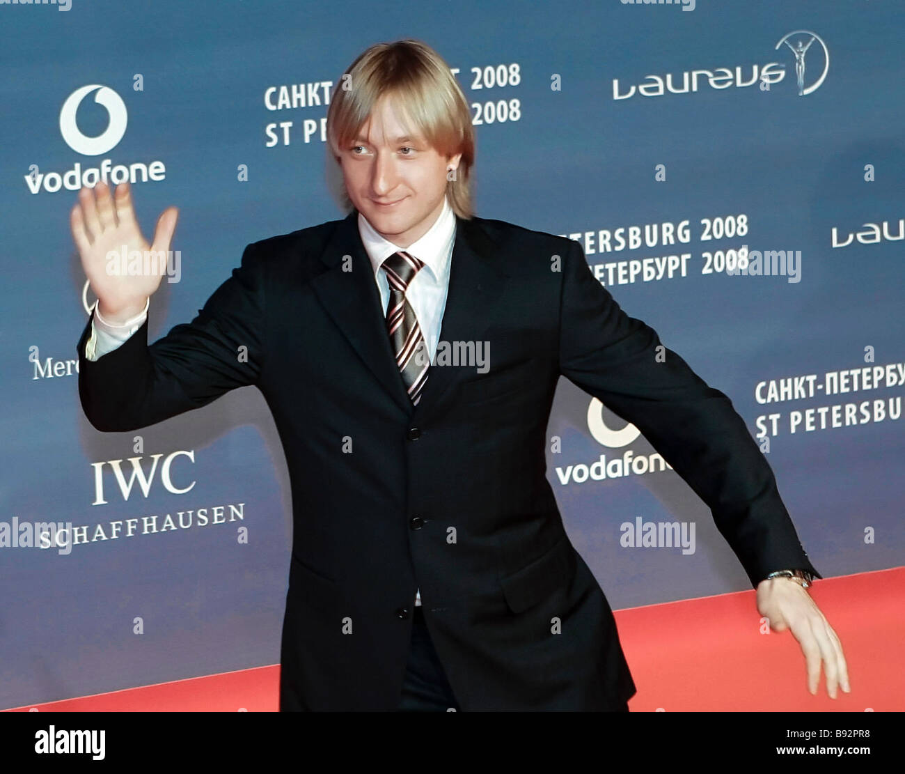 Figure skater Yevgeny Plushenko before the Ninth Laureus World Sports Awards 2008 - Stock Image