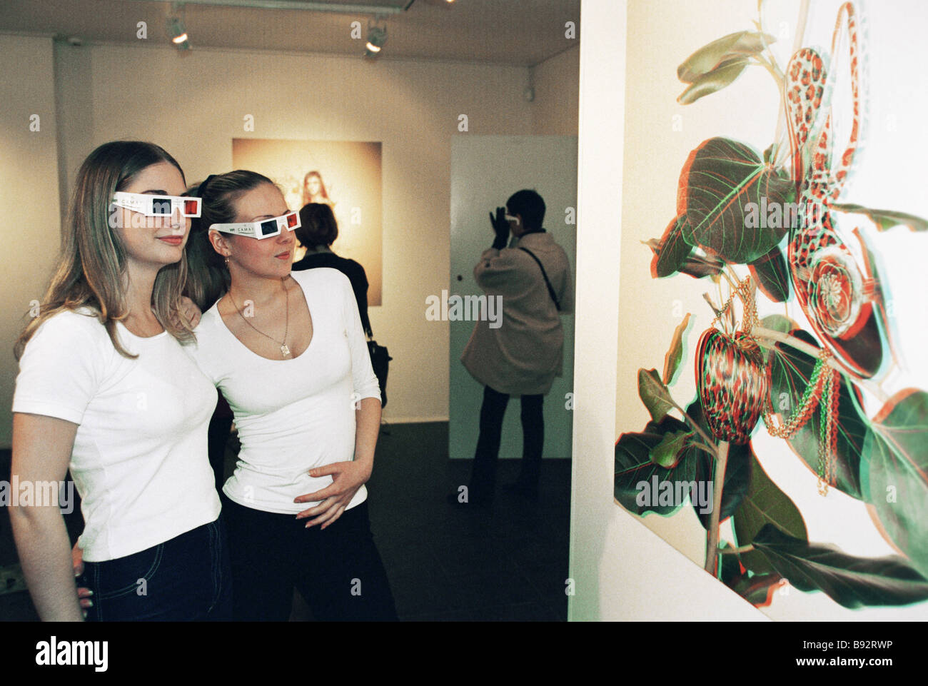 The 3D photo exhibition Cameo RD Beauty - Stock Image