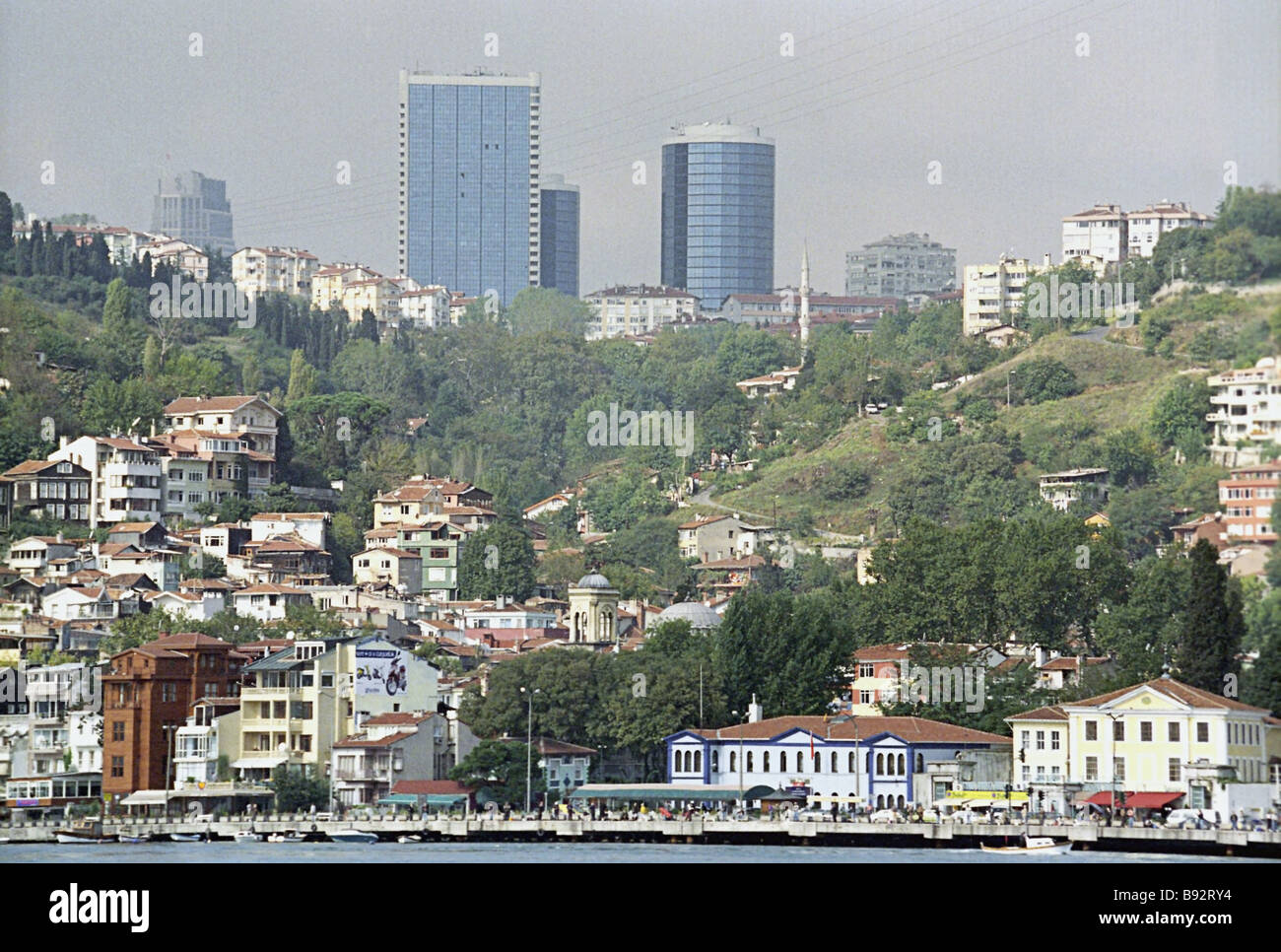 View of Istanbul Turkey s most populous city from the Sea of Marmara - Stock Image