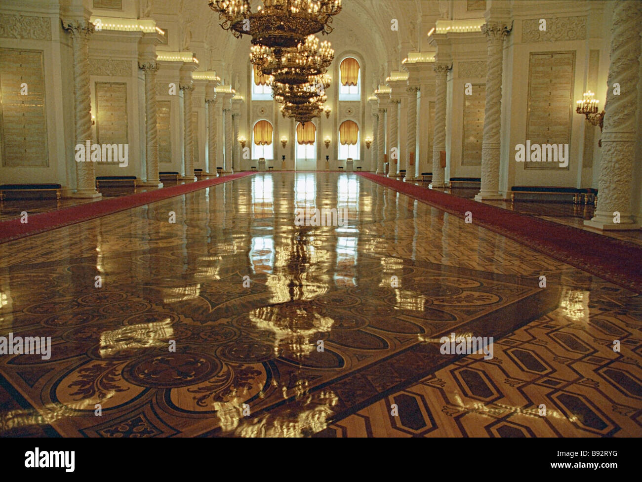 St George s Hall of the Grand Kremlin Palace - Stock Image