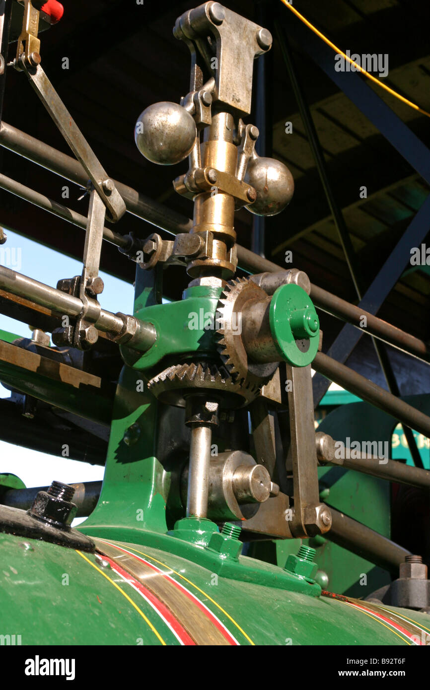 Centrifugal Governor on a Steam Traction Engine - Stock Image