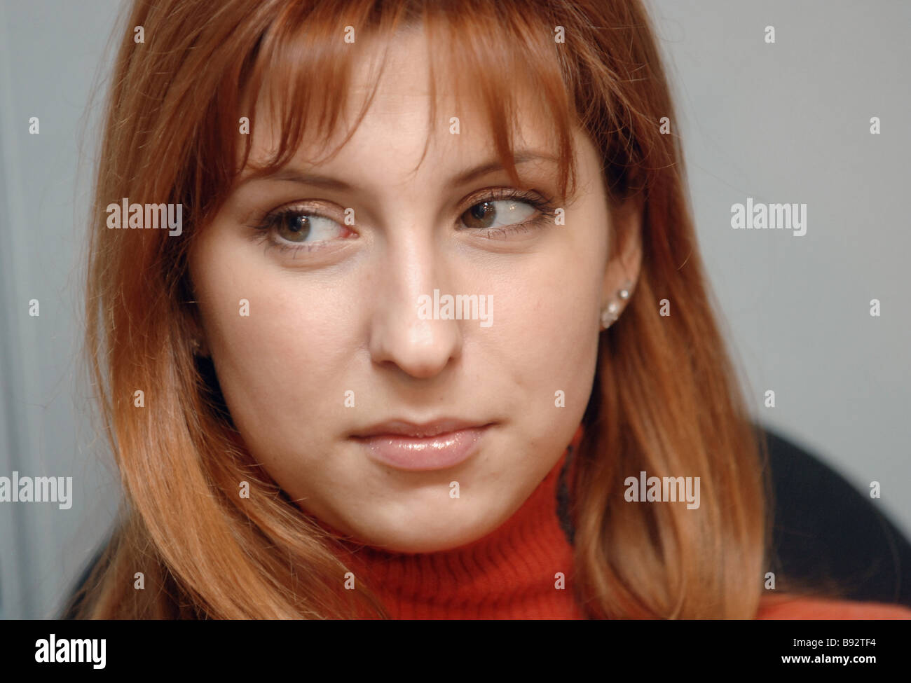Figure skater Yana Khokhlova winner of the bronze medal at the European Championship 2008 at a news conference on - Stock Image