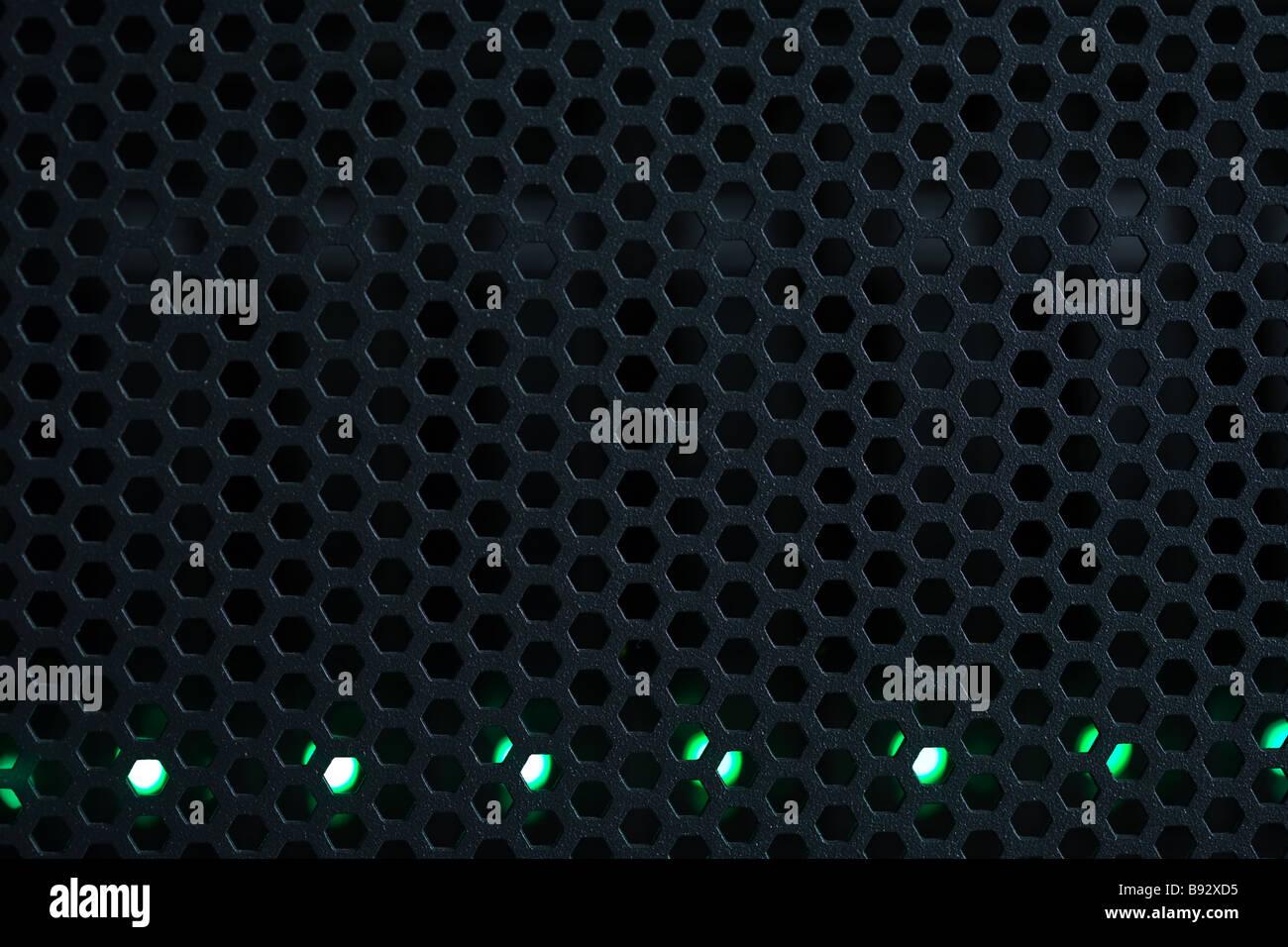 comb, indicators, LED, SCSI, data, database, disk, harddrive, information technologies, it, patchcord, server, center, - Stock Image