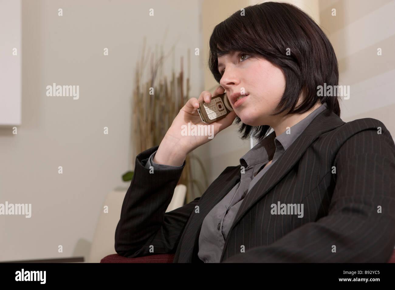 frau im büro oder hotel business - Stock Image