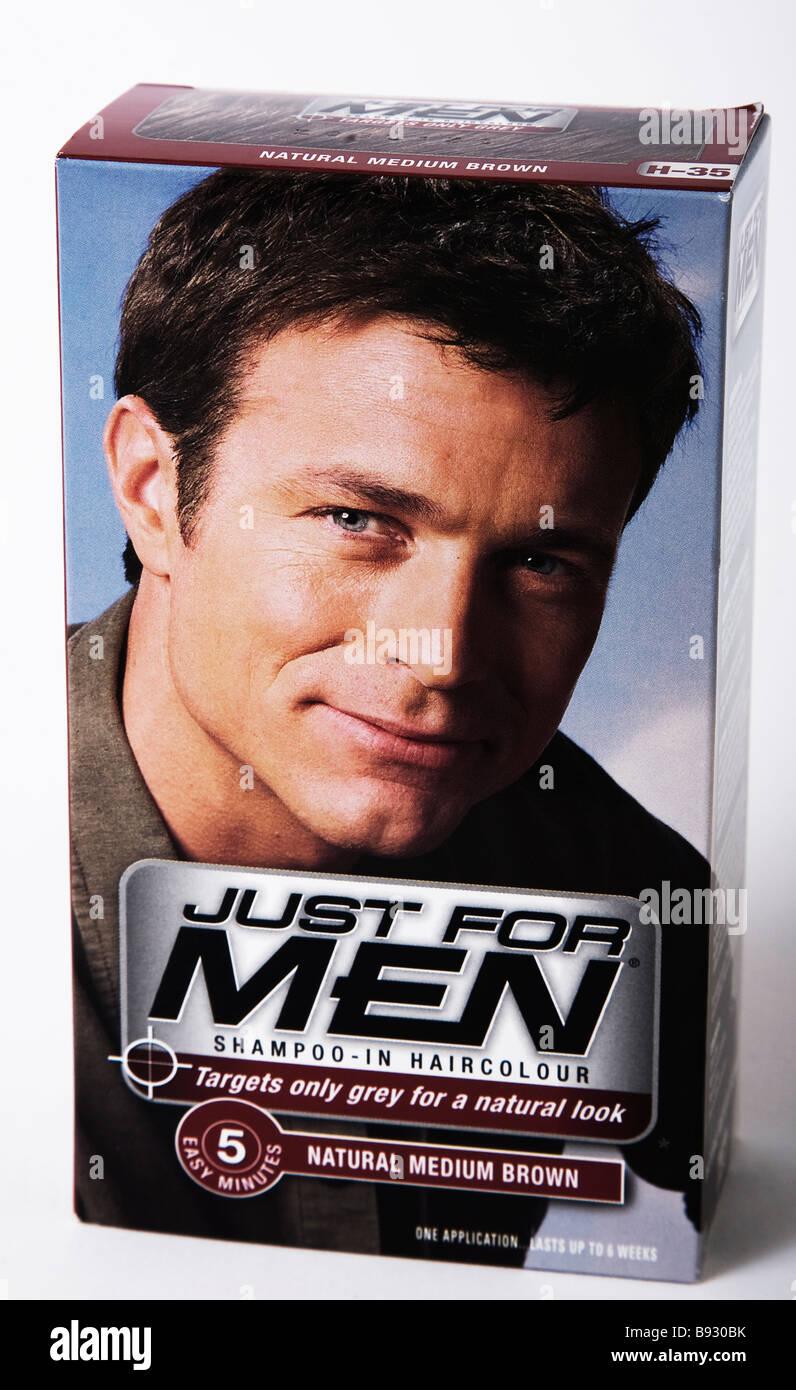 just for men colour hair dye - Stock Image