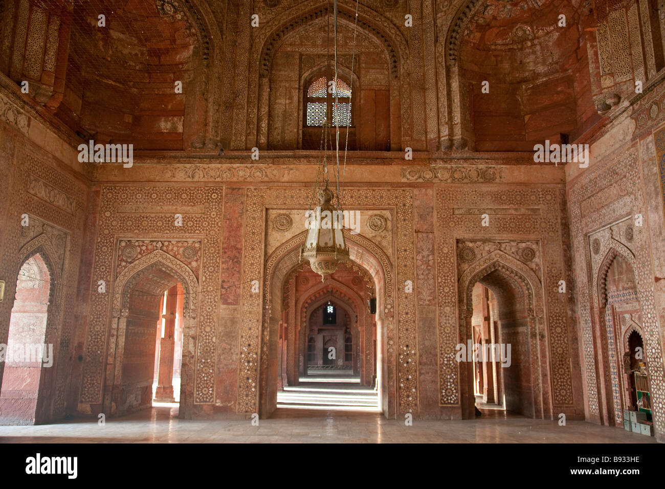 Inside the Friday Mosque or Jama Masjid in Fatehpur Sikri India Stock Photo