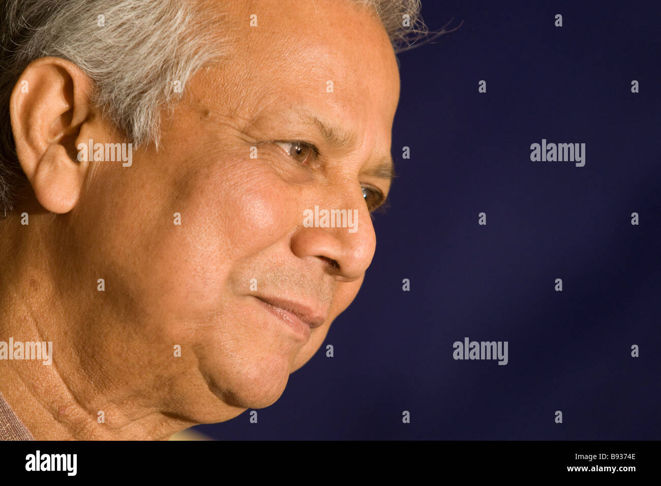 Dr Muhammad Yunus, Nobel Peace Prize laureate, and Managing Director of Grameen Bank. - Stock Image