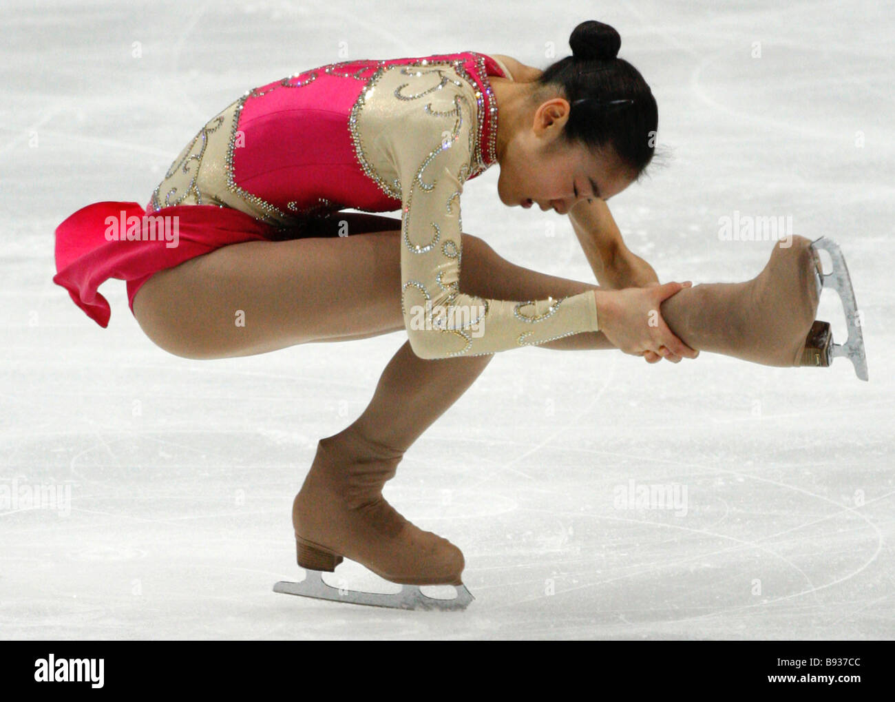 South Korean figure skater Kim Yu na won the Cup of Russia contest the 5th event of the ISU Grand Prix in the optional - Stock Image