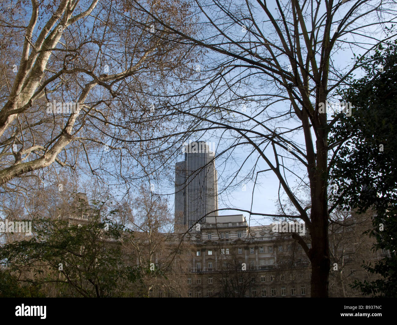 Tower 42 or NatWest Tower as seen from Finsbury Circus - Stock Image