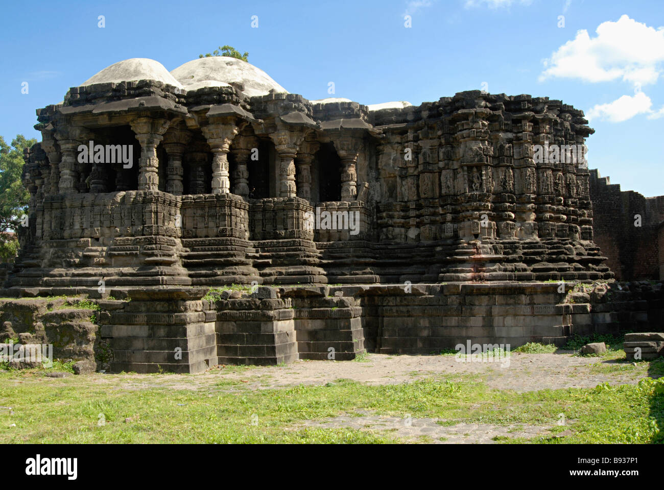 Anwa Temple- Aurangabad. Circa 12th A.D. General-View of the entire temple from South-East. - Stock Image
