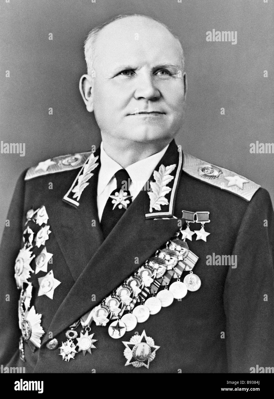Ivan S Konev Marshal of the Soviet Union 1897 1973 - Stock Image