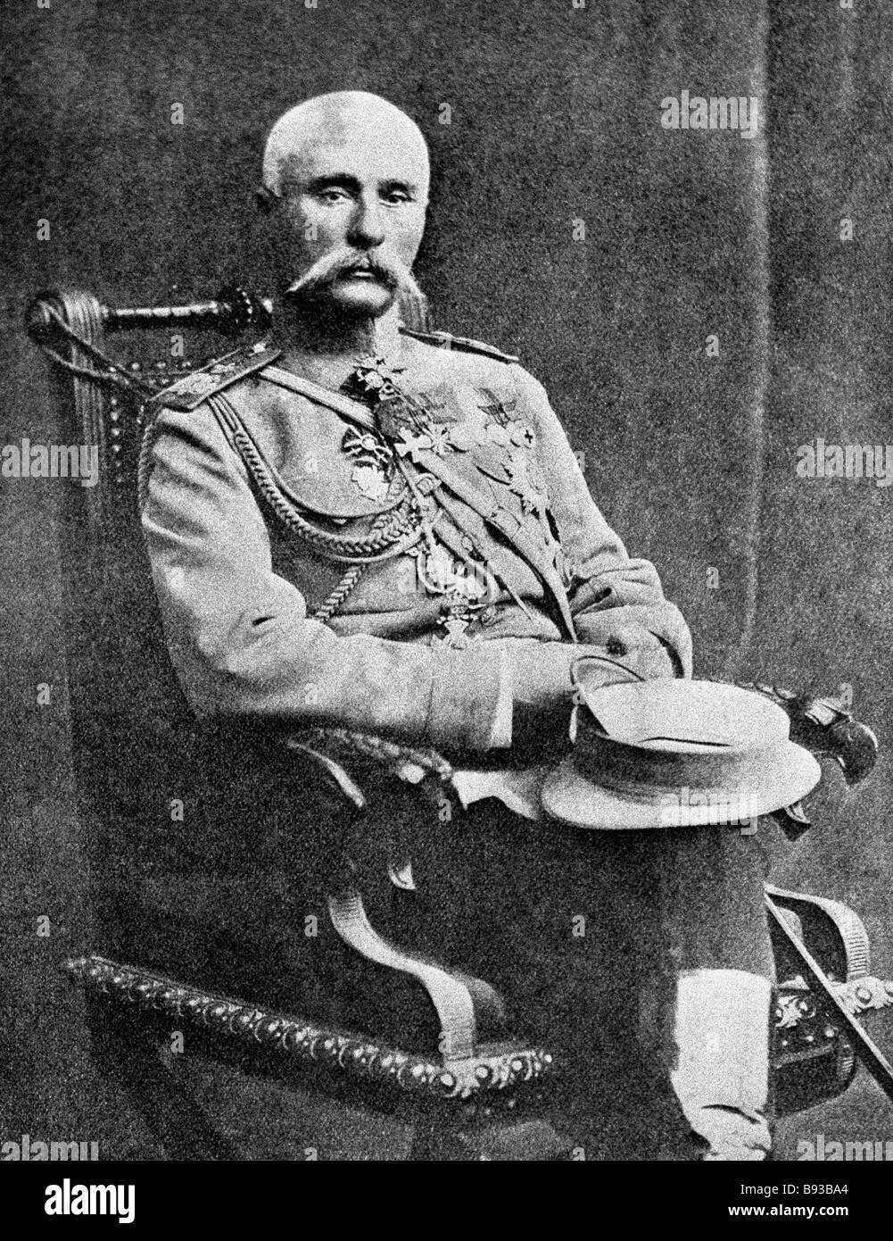 General of the Infantry Platon Lechitsky 1856 1923 commanded the 9th Army Corps active on the Southwestern Front - Stock Image