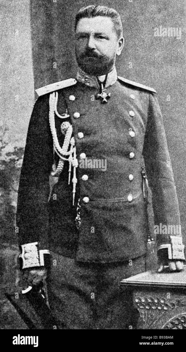 General of the Cavalry Mikhail Pleshkov 1856 1927 commanded the 1st Siberian Army Corps during World War One 1914 - Stock Image