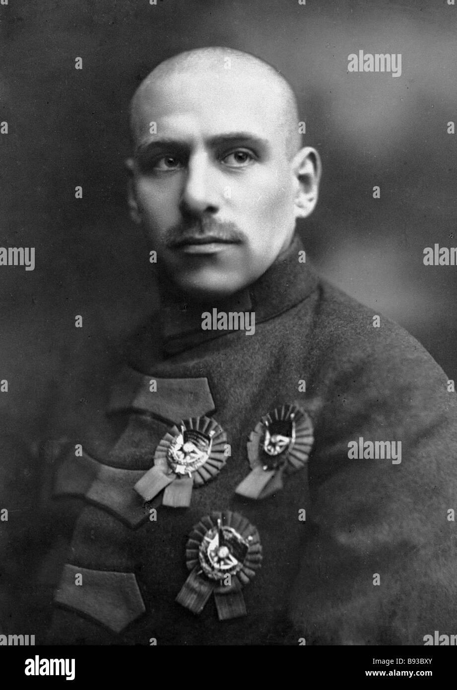 Commander of 51 Rifle Division Vasily Blyukher - Stock Image