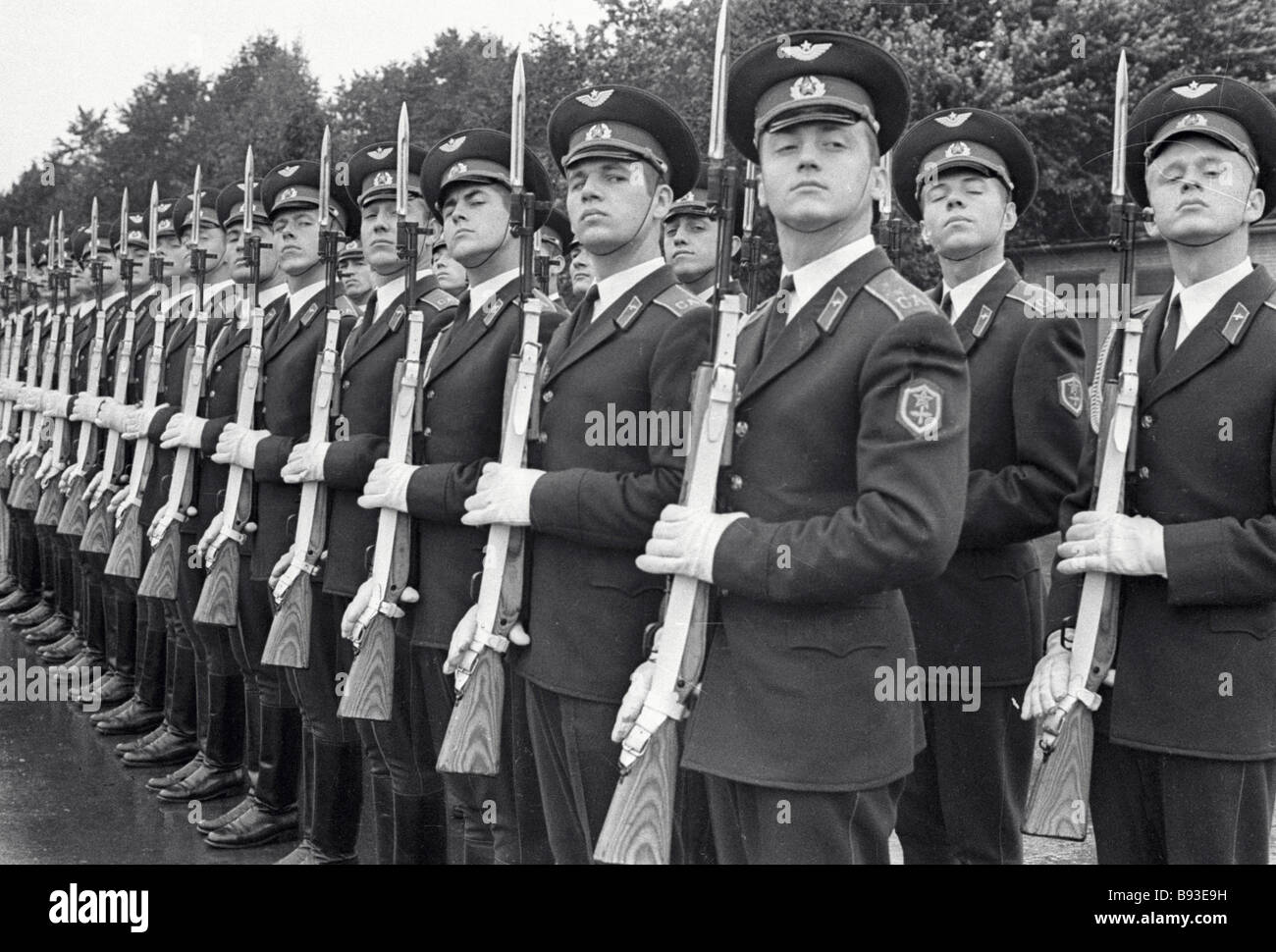 The 1st Guard of Honor Separate Platoon of the Moscow Military District parading - Stock Image