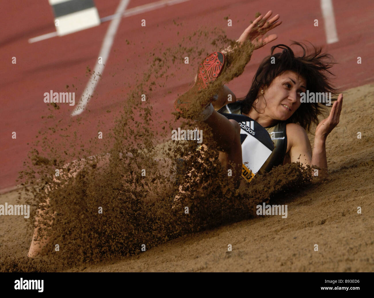 Tatiana Lebedeva won the bronze medal in triple jump during the Olympic Games of 2004 won during the 5th International - Stock Image