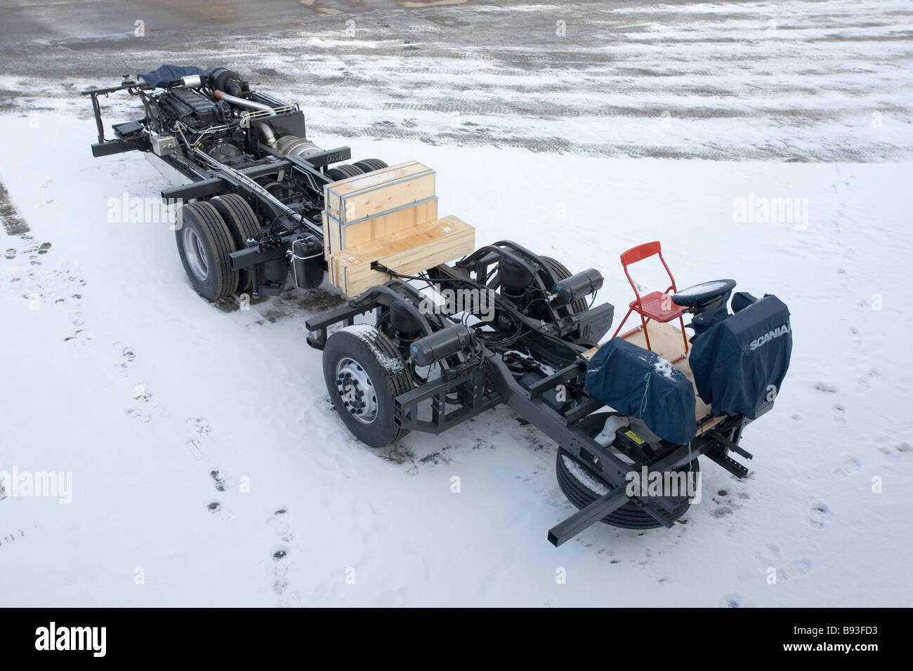 Scania truck frame outdoors Stock Photo: 22820255 - Alamy