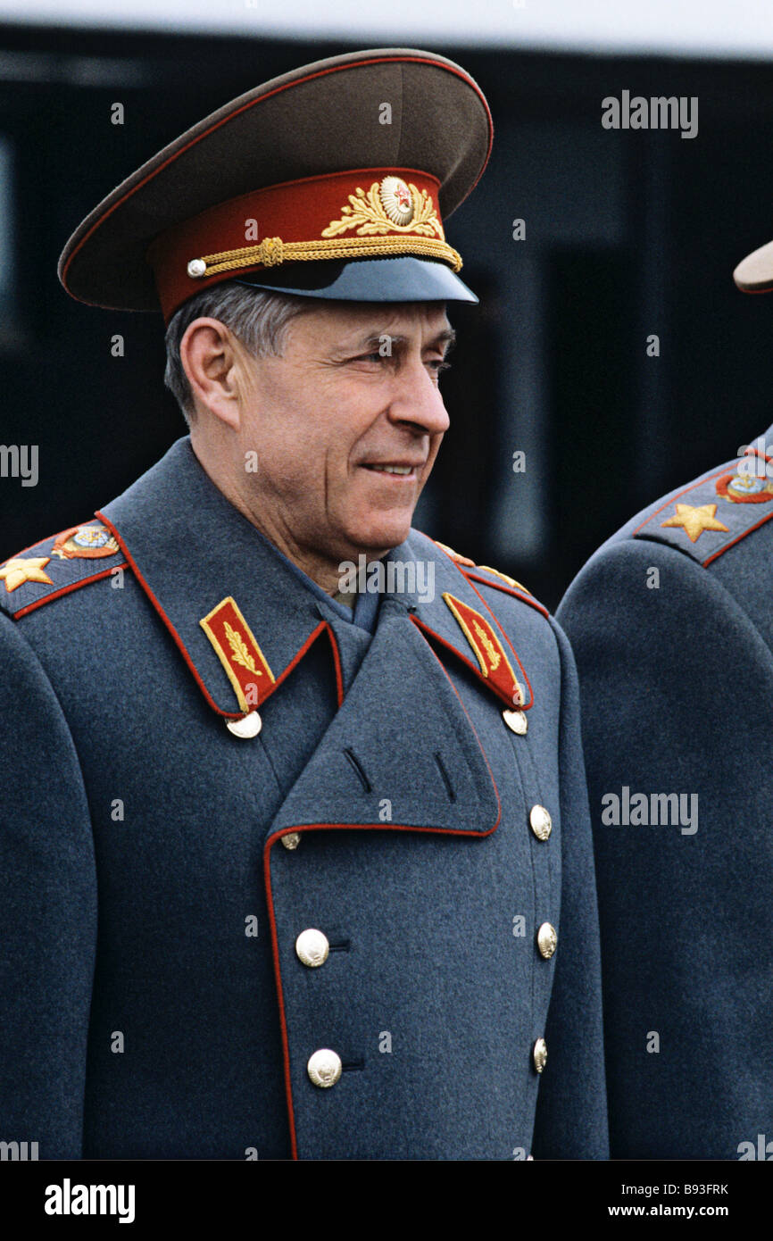 Sergei Akhromeev 1923 1991 Marshall of the Soviet Union Chief of the General Staff of the Soviet Armed Forces First - Stock Image