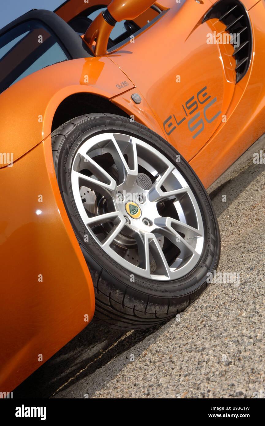 Lotus Elise SC Supercharged mid engine sports car - Stock Image