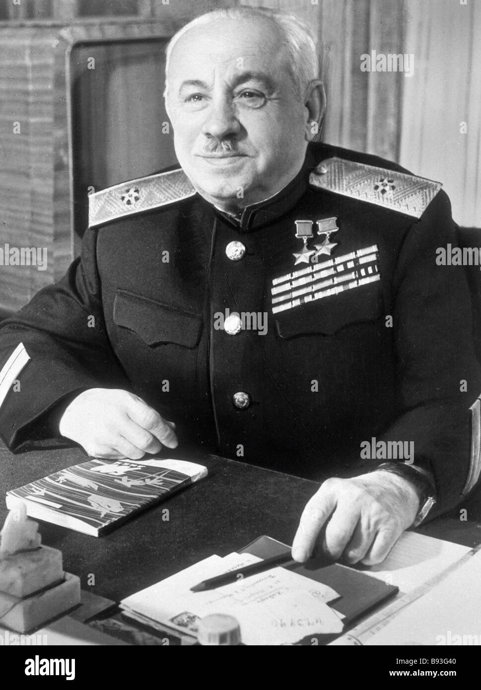 Rear Adm Ivan Papanin two time Hero of the Soviet Union Ph D in geography Stock Photo