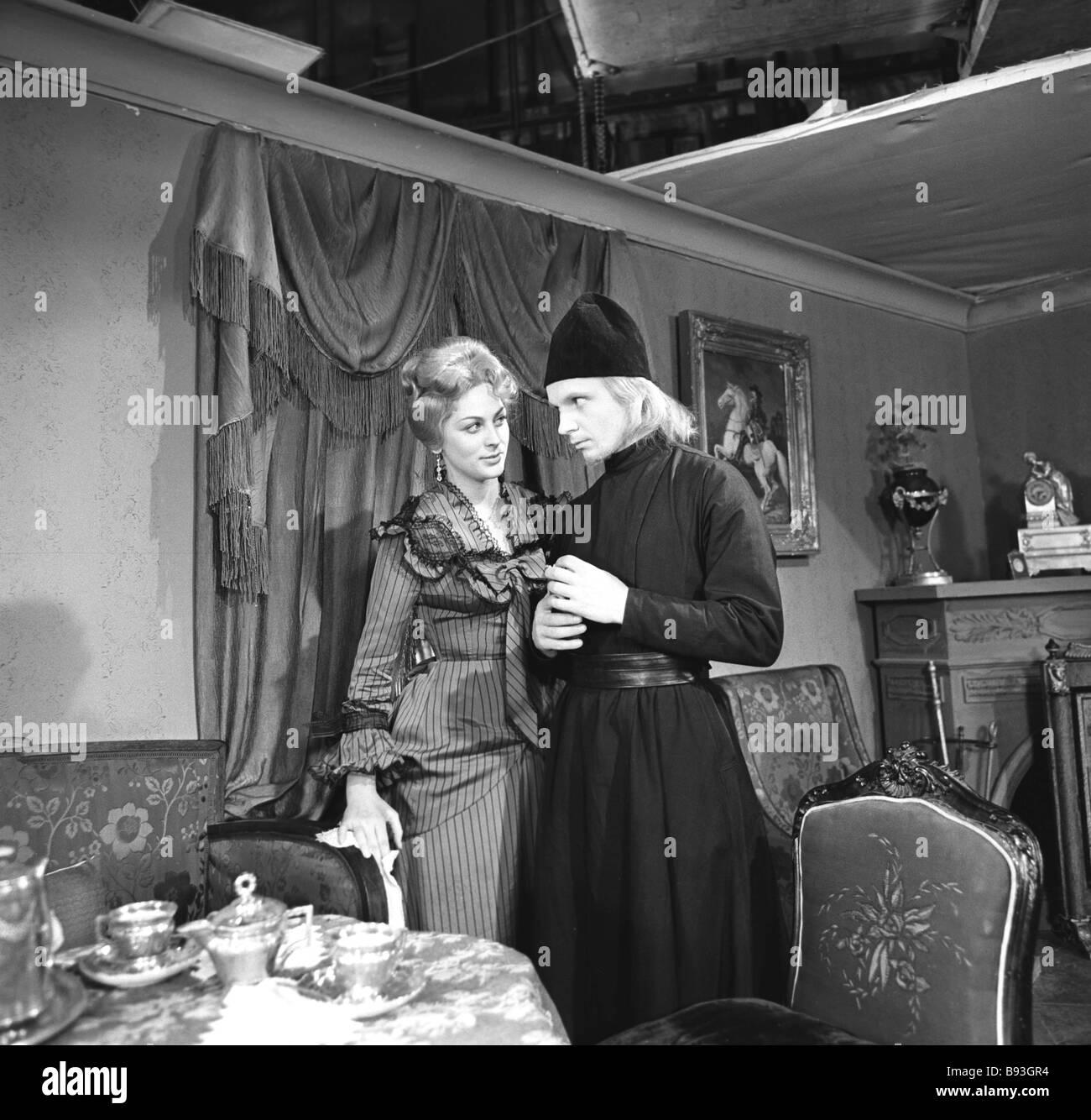 A still from the movie The Brothers Karamazov directed by Ivan Pyriev in 1968 Actress Svetlana Korkoshko as Katerina - Stock Image